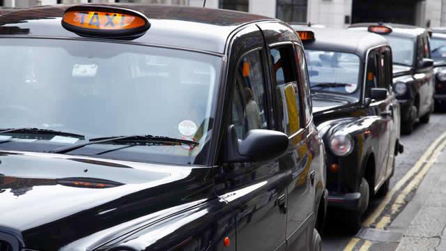 Queue of Taxi cabs